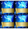 Zodiacal Calendar pages of 2016 vector image vector image