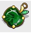 Accessory apple made of precious stones emerald vector image