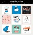 Cute Summer Scandinavian Set vector image