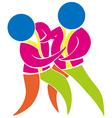 Judo icon in colors vector image