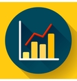 Business diagram chart icon Modern flat 20 vector image