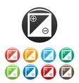 accumulator icons set vector image