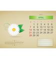 April 2013 calendar vector image