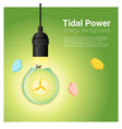 energy concept background with tidal energy in vector image