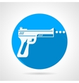 Flat icon for airgun vector image