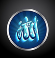 islamic allah text vector image
