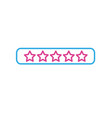 line rating stars bar to choose the favorite vector image