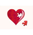 heart and a missing piece vector image
