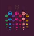 tulip design vector image