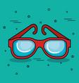 colorful glasses design vector image