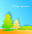 Colorful christmas tree applique background vector image