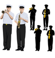 military musicians vector image vector image