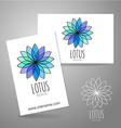 lotus meditation logo sign vector image