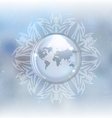 Snow globe with map vector image vector image