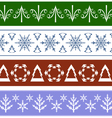 Seamless Christmas Ornaments vector image vector image