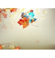 Autumnal maple leaf made of triangles EPS 10 vector image