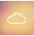Cloud thin line icon vector image