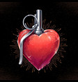 heart grenade art vector image