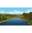 Nature landscape river background vector image