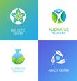 set of emblems and logo design templates vector image