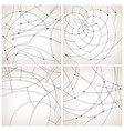 set of monochrome geometric backgrounds vector image