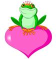 Valentine frog vector image