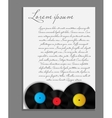 Vinyl record background blank page vector image