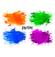watercolor blot texture bright brushes vector image