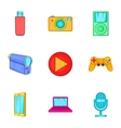 Electronic gadget icons set cartoon style vector image