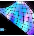 Dark abstract hi-tech blue background vector image