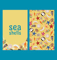 sea shells flyers or brochures vector image