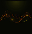 gold glitter abstract waves of smoke vector image