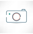digital camera icon vector image vector image