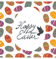 easter greeting retro card vector image