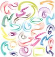line swooshes vector image