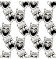 Cartoon theater masks seamless pattern vector image vector image
