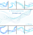 Water wave patterns set vector image