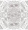 Seamless aztec pattern Line vector image