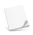 Cover white book with blank vector image