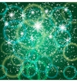 abstract green background with bokeh and particles vector image