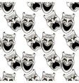 Cartoon theater masks seamless pattern vector image