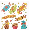 collection of sweets vector image