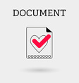 Document with tick and heart Outline style vector image