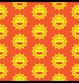 Happy Sun Cartoon Seamless Pattern vector image