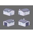 Low poly white garage vector image