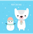 merry christmas cute christmas greeting card vector image