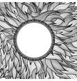 ornamental round border floral doodle background vector image