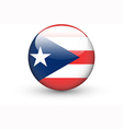 Round icon with flag of Puerto Rico vector image