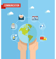 Social media world concept flat vector image