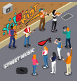 street musicians isometric vector image